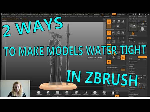 How To Make Models Watertight In ZBrush
