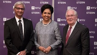 """NYU Stern's """"In Conversation with Lord Mervyn King"""" Series Presents Indra Nooyi"""