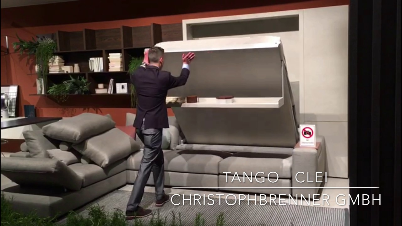 tango clei doppelbett und sofaeinheit klappbett isalone christophbrenner gmbh youtube. Black Bedroom Furniture Sets. Home Design Ideas
