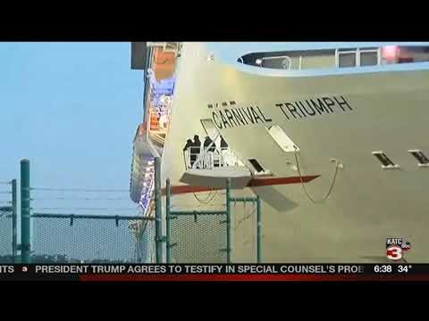 Carnival Triumph returns to New Orleans after a passenger falls from ship