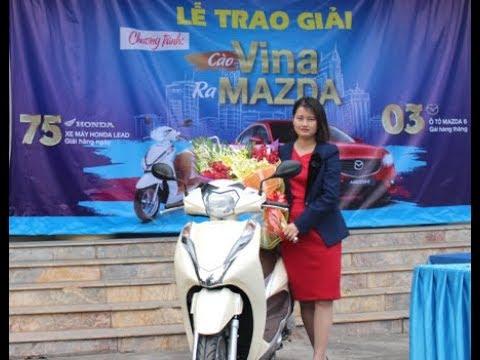 VinaPhone trao giải xe HonDa LEAD cho Khách hàng tại Ân Thi