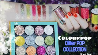 NEW Colourpop GLITTERPOP Glitterally Obssessed Collection Swatches | Lillee Jean