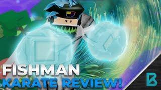 FISHMAN KARATE REVIEW/SHOWCASE| RO-PIECE | ROBLOX