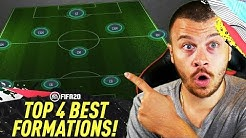 FIFA 20 BEST FORMATIONS & TACTICS in ULTIMATE TEAM! TOP 4 MOST EFFECTIVE FORMATIONS TUTORIAL