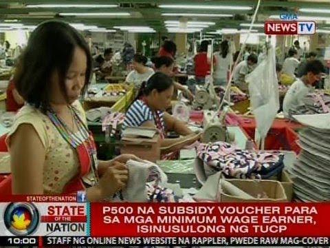 SONA: P500 na subsidy voucher para sa mga minimum wage earner, isinusulong ng TUCP