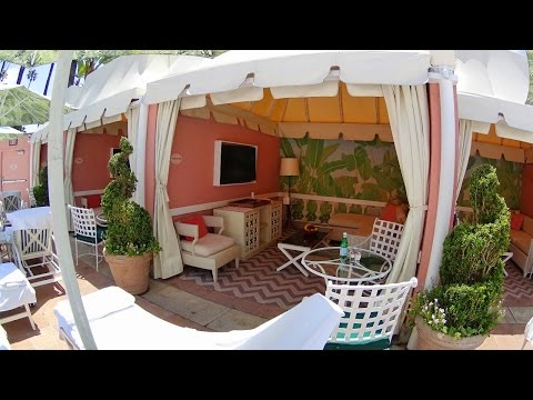 Beverly Hills Hotel Amazing Poolside Cabana Tour In 4K
