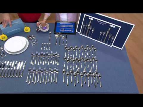 Reed & Barton 18/10 SS 80-piece Service for 12 Flatware Set on QVC