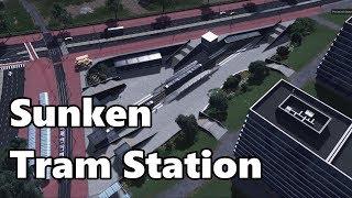 Cities Skylines: Dutch Tram Station Build