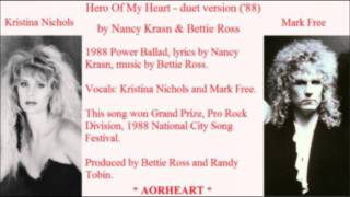 KRISTINA NICHOLS & MARK FREE - Hero Of My Heart (aorheart).wmv