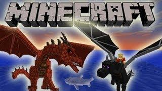 Minecraft 1.7 SnapShot: Dragon Pets, Red Dragon, Taming Dragons! 'NEWS'