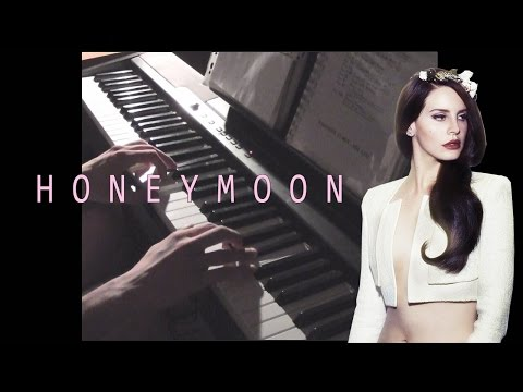 Lana Del Rey - Honeymoon with Lacrimosa Intro (piano cover by @andrixbest + TUTORIAL)