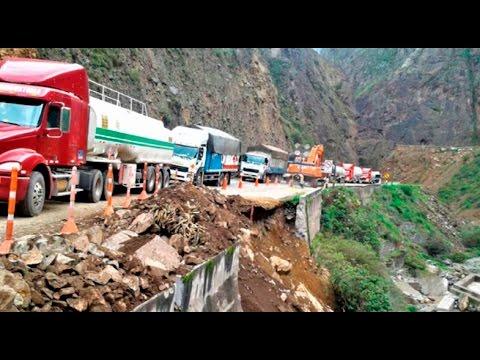 Reabren sector de carretera Central afectada por lluvias