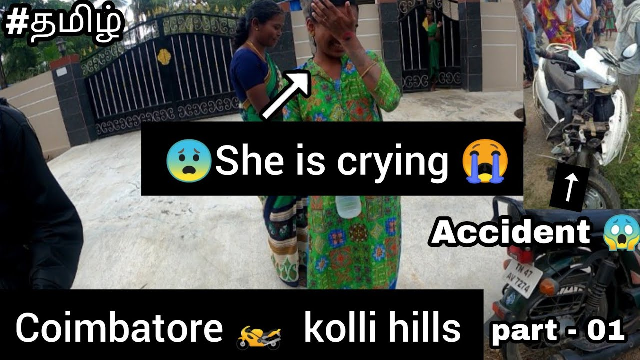 Download 😭She started crying 🏍️ because of us😓  Coimbatore to kolli hills  part 01 Tamil   R15v3   Accident 