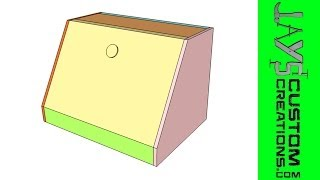 Sketchup - Bread Box With Plan - 097