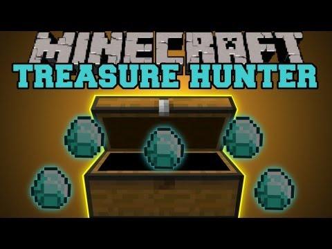 Minecraft : Treasure Hunter (Treasure Maps, Chests, Diamonds!) Plunder Rummage Mod Showcase