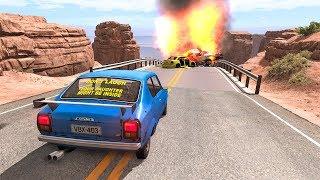Collapsing Bridge Pileup Car Crashes #17 - BeamNG DRIVE   SmashChan