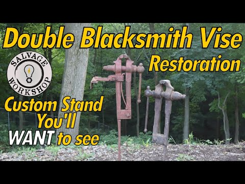 Blacksmith Leg Vise(s) ~ RESTORATION & Stand BUILD With 2 Legs ~ Building An AMAZING Vise Stand!