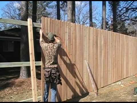 how to build privacy fence on a slope 2