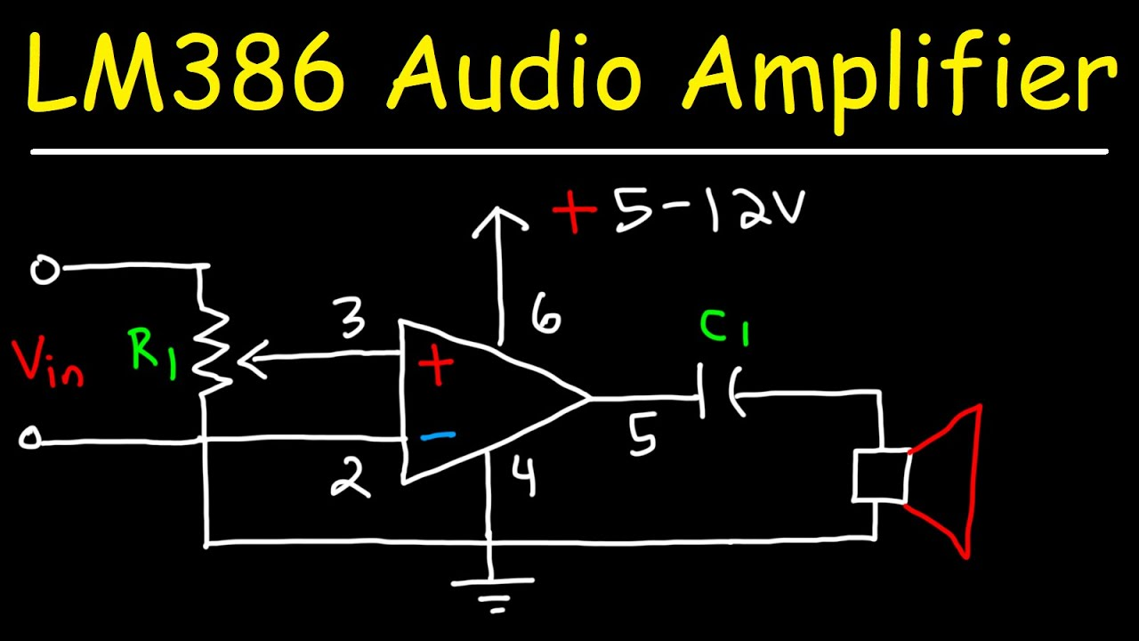 Lm386 Audio Amplifier Circuit With Bass Boost And Volume