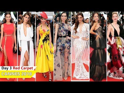 Cannes Film Festival 2018 [DAY 3] Red Carpet   Full Video   Celebrity Dresses