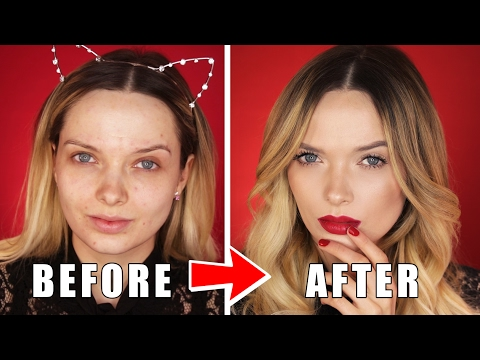 QUICK & EASY VALENTINE'S DAY MAKEUP TUTORIAL! // MyPaleSkin thumbnail