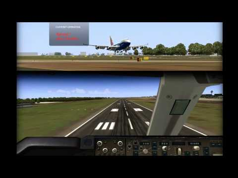 [HD] FS B744 Training - Touch & Go