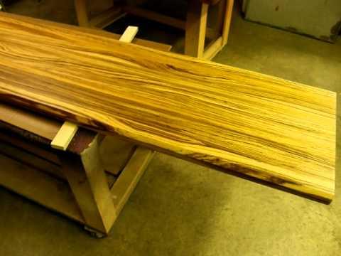 Signature Custom Woodworking (Zebrawood Countertop) - YouTube