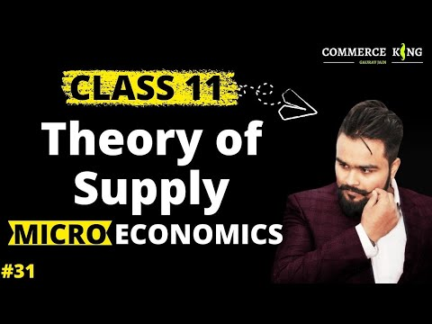 Class 12 microeconomics(theory of supply: determinants and law) economics on your tips video 31