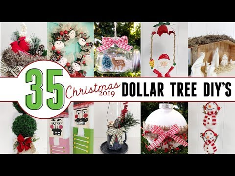 Dollar Tree Christmas 2019 | 35 Christmas DIYs