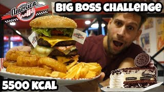 BURGER Challenge - BIG BOSS America Graffiti - Italiano Cheat day - MAN VS FOOD (ENG SUB)