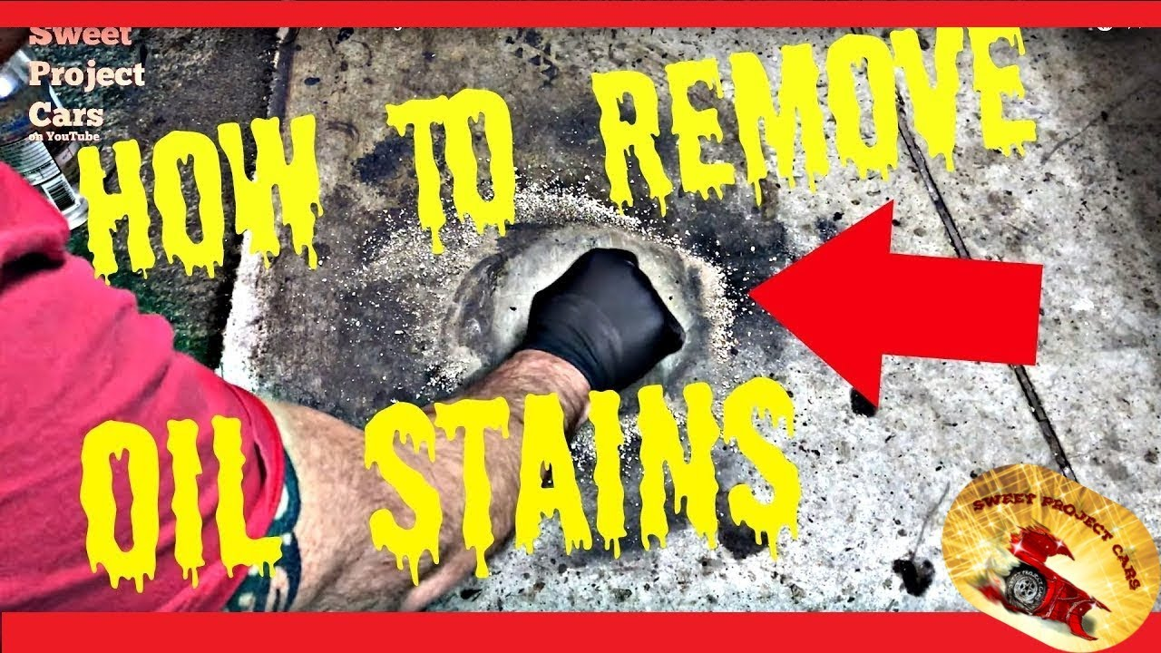 HOW TO REMOVE OIL STAINS ON Driveways or Garage Floors - YouTube