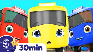 Ten Little Buses Song For Kids | +More Nursery Rhymes & Kids Songs | ABCs and 123s | Little Baby Bum