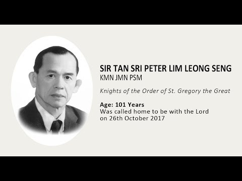 Funeral Mass - Sir Tan Sri Peter Lim Leong Seng