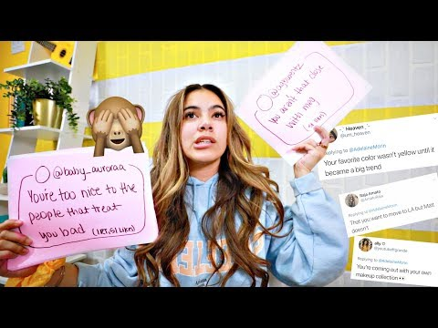 Reading People's Assumptions About Me... (and answering them)