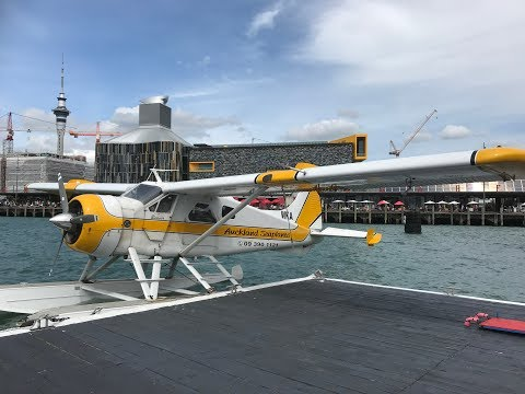 DeHavilland Beaver DHC2 over Auckland Harbour and surrounding islands.