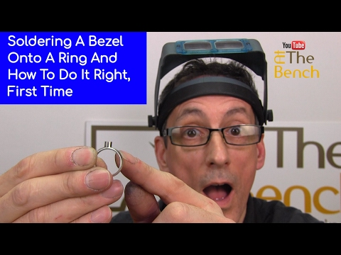 How To Solder A Tube or Bezel Setting Onto A Ring And Do It Correctly