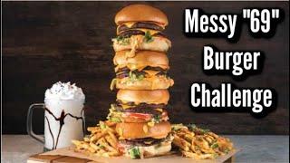 GIANT BURGER CHALLENGE IN LAS VEGAS   Sexual Big Burger, Fries & Milkshake Challenge   Man Vs Food