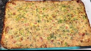 New Recipe! Breakfast Egg Cheese & Veggie Casserole! 2 Points Plus Per Huge Slice!