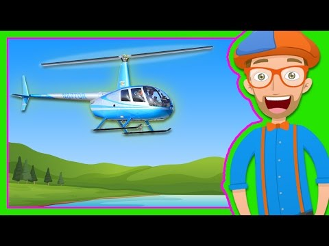 Helicopters for Children   Blippi Explore a Helicopter