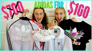HUGE Thrift Market Haul - $700 of ADIDAS & PUMA for $100!! - Try on VLOG