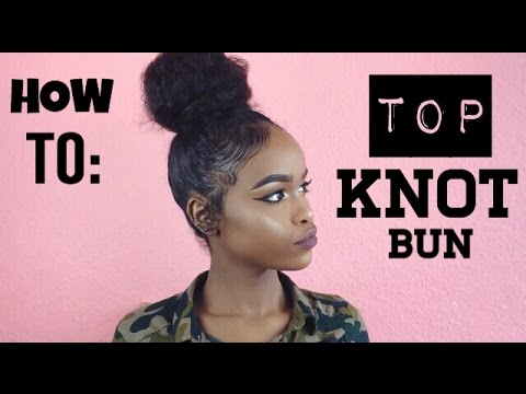 NATURAL HAIR TOP KNOT BUN FOR SHORT HAIR