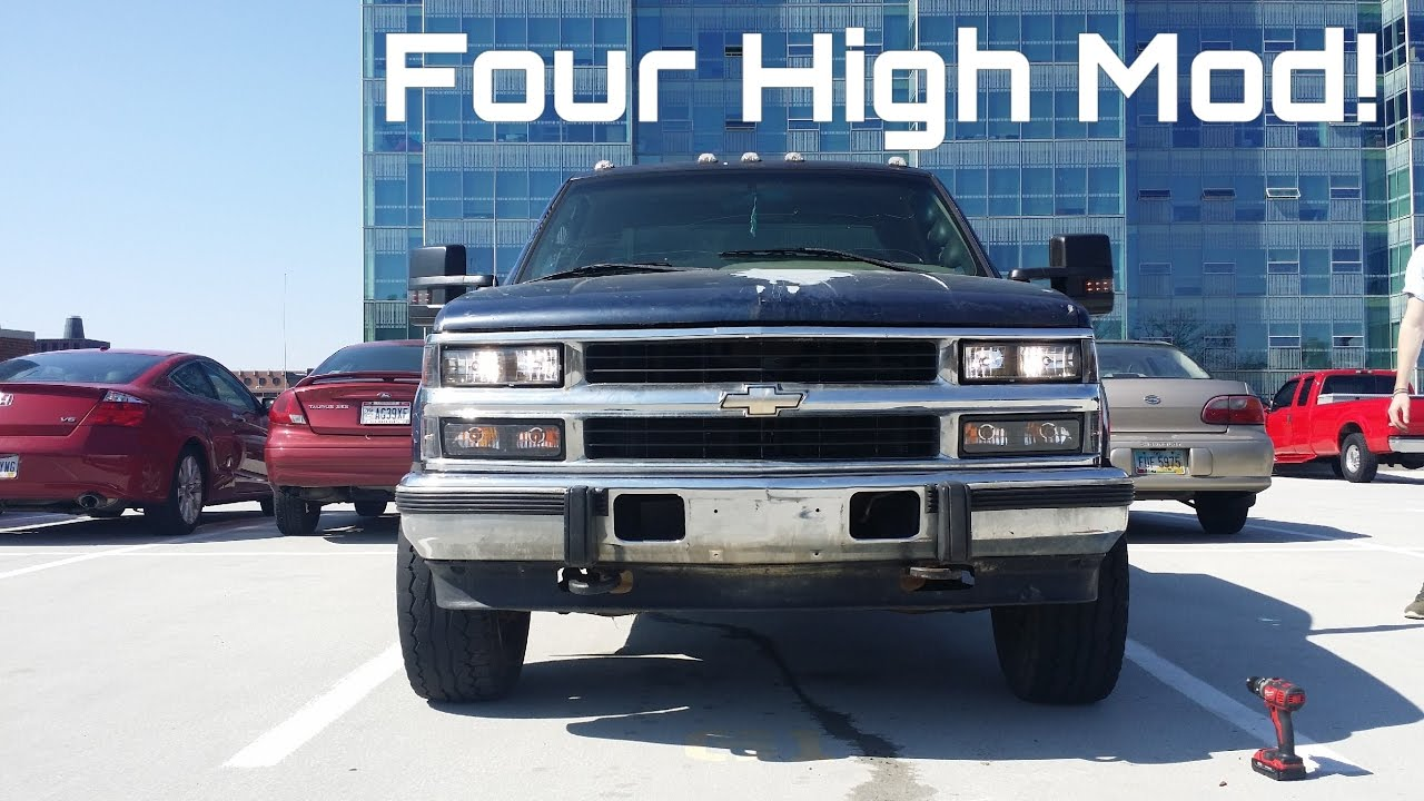 Chevy Mirror Wiring Obs Chevy Plug And Play High Beam Mod Youtube
