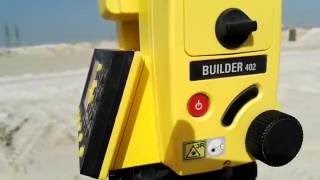 How to set Total Station Builder 402 with any where (Resection) in Urdu Hind