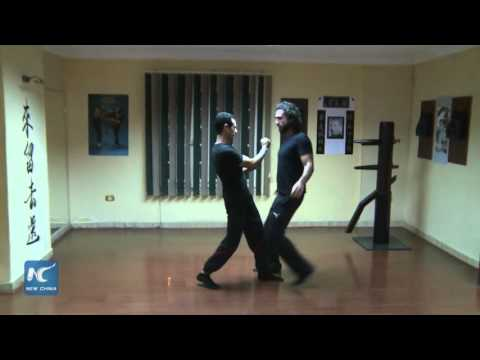 New China TV reporter about Wing Tsun academy Egypt