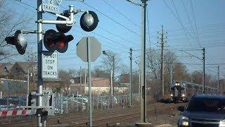 New Jersey Transit Train Rushing Through Long Branch