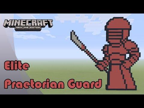 Minecraft: Pixel Art Tutorial And Showcase: Elite Praetorian Guard (Star Wars: The Last Jedi)