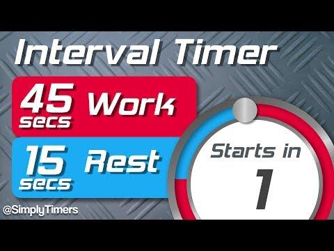 45 sec work 15 sec rest Interval Timer (45/15 interval timer) up to 60 reps