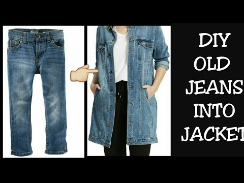DIY Old Jeans Into Jacket/ Shrug Recycle/Reuse Old Jeans ...