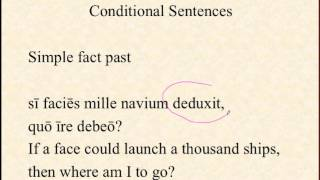 Conditional sentences in Latin