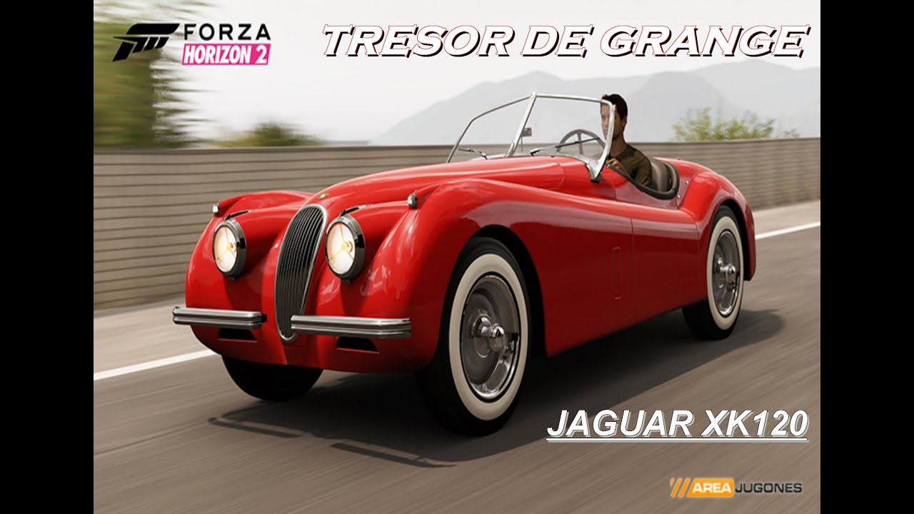 tr sor de grange forza horizon 2 jaguar xk 120 youtube. Black Bedroom Furniture Sets. Home Design Ideas